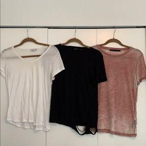 Designer t-shirt lot - all saints and Vince
